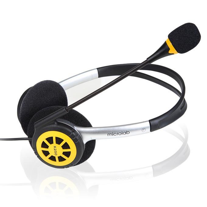 Слушалки MICROLAB K250, черни image