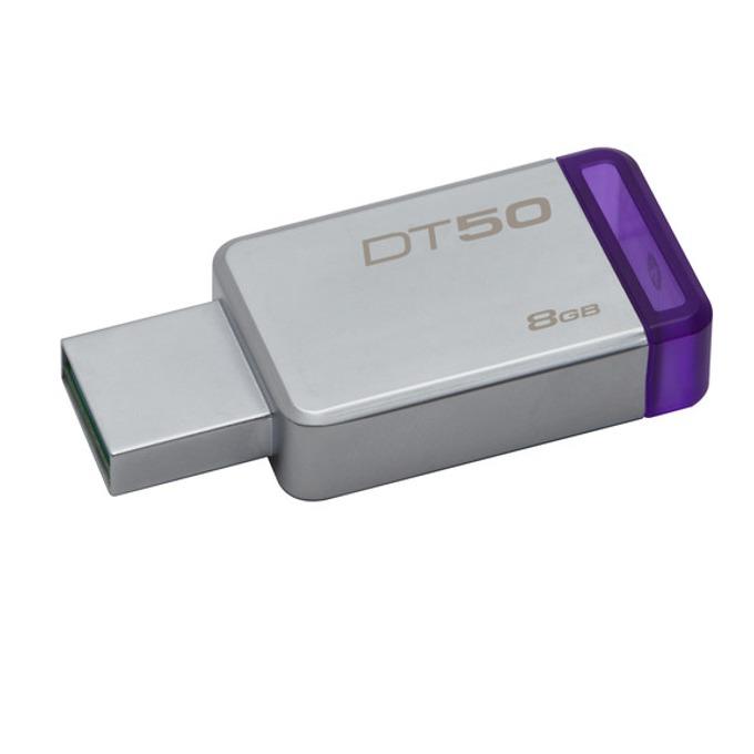 Памет 8GB USB Flash Drive, Kingston DataTraveler 50, USB 3.0, сребриста image