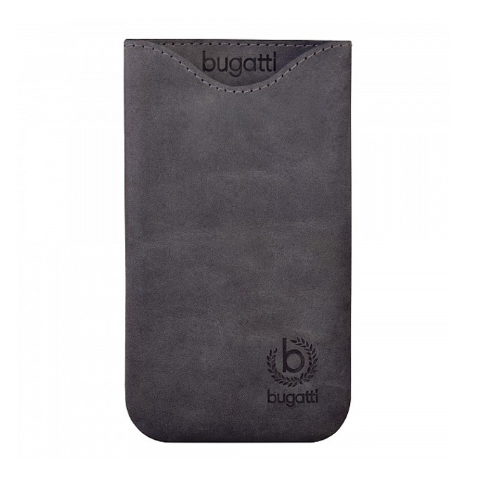 Универсален калъф, джоб, естествена кожа, Bugatti Skinny XL Steel, тъмно-сив image