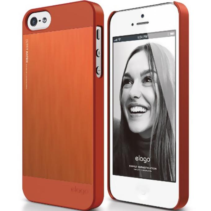 Алуминиев протектор Elago S5 Outfit Matrix за iPhone 5 и iPhone 5S, оранжев image