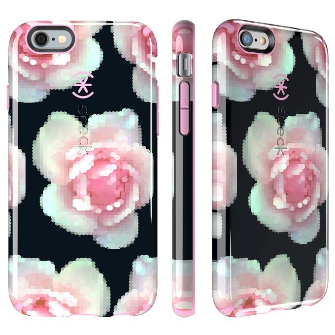 Страничен протектор с гръб Speck Candyshell Inked Pixel iPhone 6S Plus, розов с щампа image