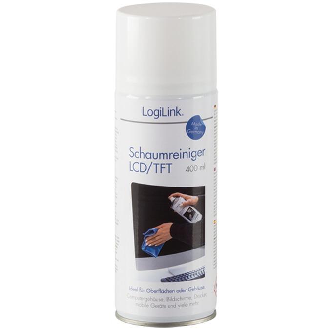 Почистваща пяна LogiLink Foam Cleaner за LCD/TFT екрани,400ml image