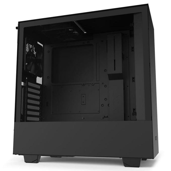 Кутия NZXT H510i Smart NZXT-CASE-H510I-B1, ATX/mATX/mini-ITX, 1x USB 3.0 Type A/1 x USB 3.0 Type C, страничен прозорец от закалено стъкло, черна, без захранване image