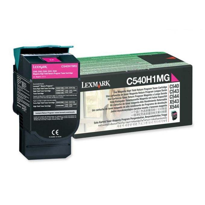КАСЕТА ЗА LEXMARK OPTRA C 540 series/X540 series - Magenta - Return program cartridge High Yield - P№ C540H1MG - заб.: 2000k image