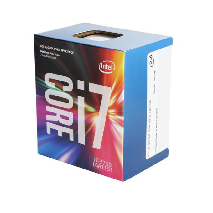 Процесор Intel Core i7-7700 четириядрен (3.6/4.2GHz, 8MB Cache, 350MHz-1.15GHz GPU, LGA1151) BOX, с охлаждане image