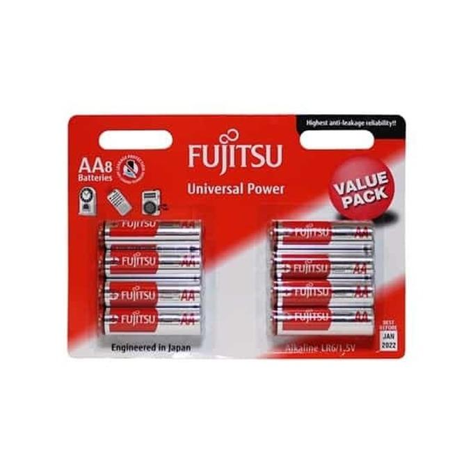 Батерии (алкална) Fujitsu universal power, AA, BL8, 1.5V, 8 бр. image
