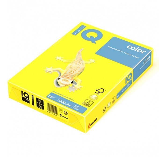 Картон Mondi IG50, Цветен, А4, 160g/m2, 250л., жълт image