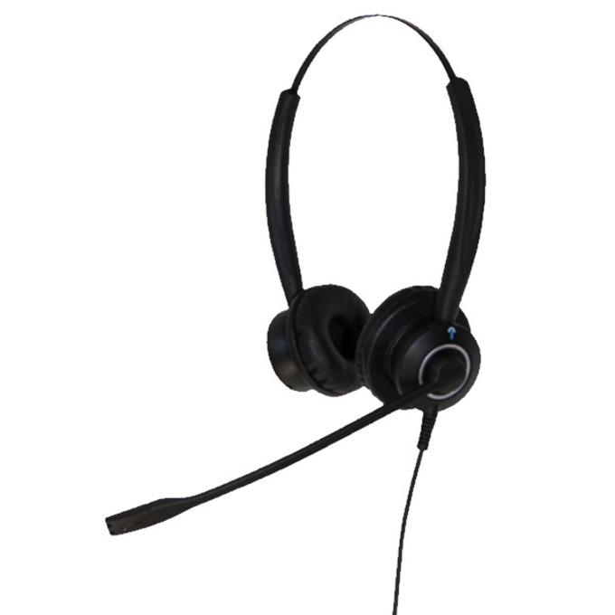 Слушалки IPN H950 wideband NC IPN050, QD кабел, моно, шумоподтискащ микрофон, професионални за офиси и кол центрове, черни image