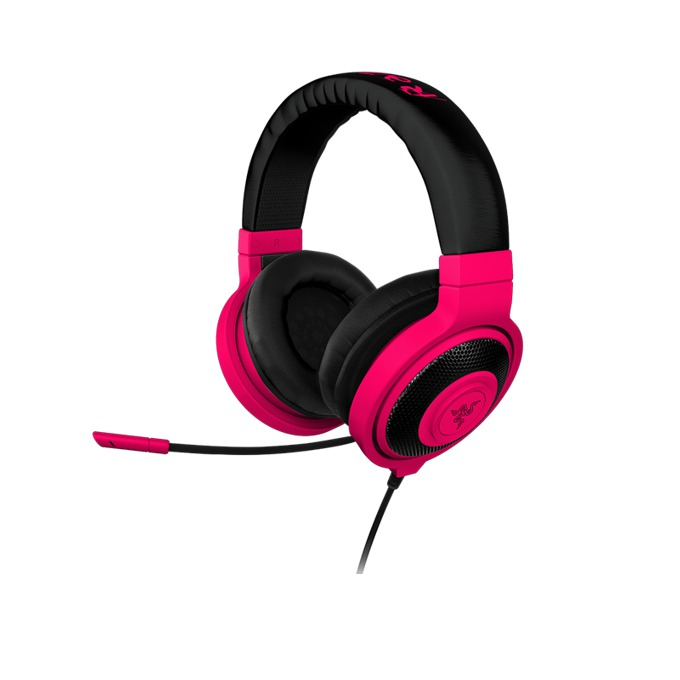 Слушалки Razer Kraken Pro Neon Red, микрофон, гейминг, бързи бутони, червени image