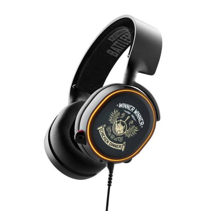 Слушалки SteelSeries Arctis 5 PUBG Edition, микрофон, 7.1, микрофон, USB/3.5 жак, гейминг, черни image