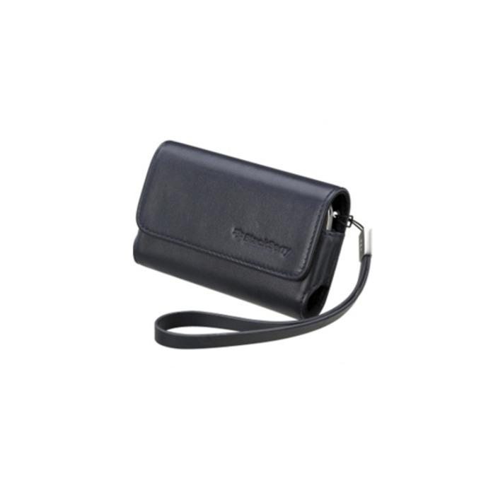 Калъф за Blackberry, джоб, еко кожа, Blackberry Leather Case, индиго image