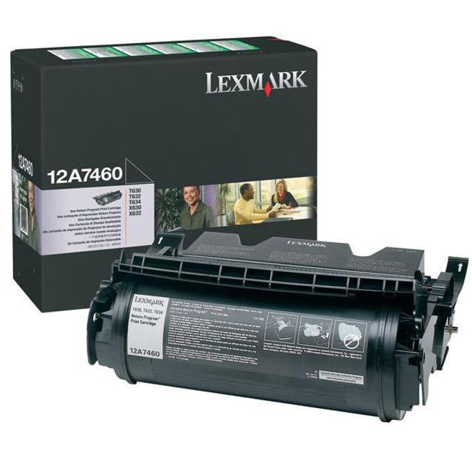 КАСЕТА ЗА LEXMARK OPTRA T 630/T632/T634 - Return program cartridge - P№ 12A7460 - заб.: 5000k image