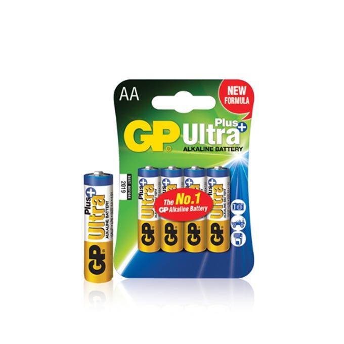 Батерии алкални GP Ultra Plus, AA, 1.5V, 4бр. image
