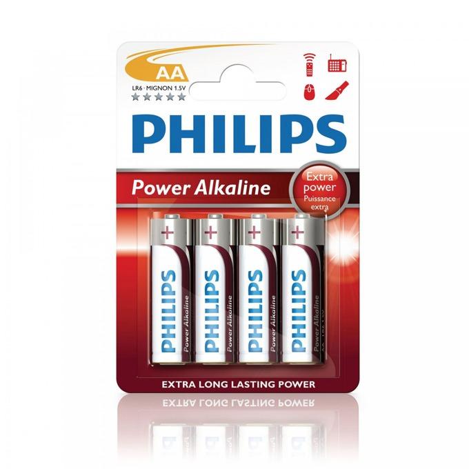 Батерии алкални Philips Power AA, 1.5V, 4 бр. image