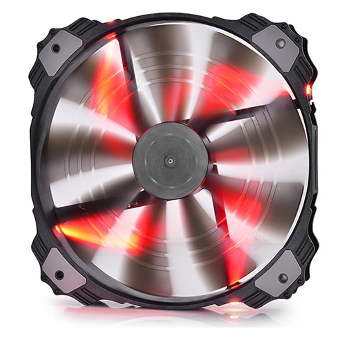 Вентилатор 200mm, DeepCool XFAN 200RD, 700rpm, Red LED image
