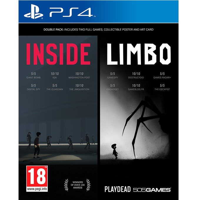 INSIDE + LIMBO Double Pack, за PS4 image