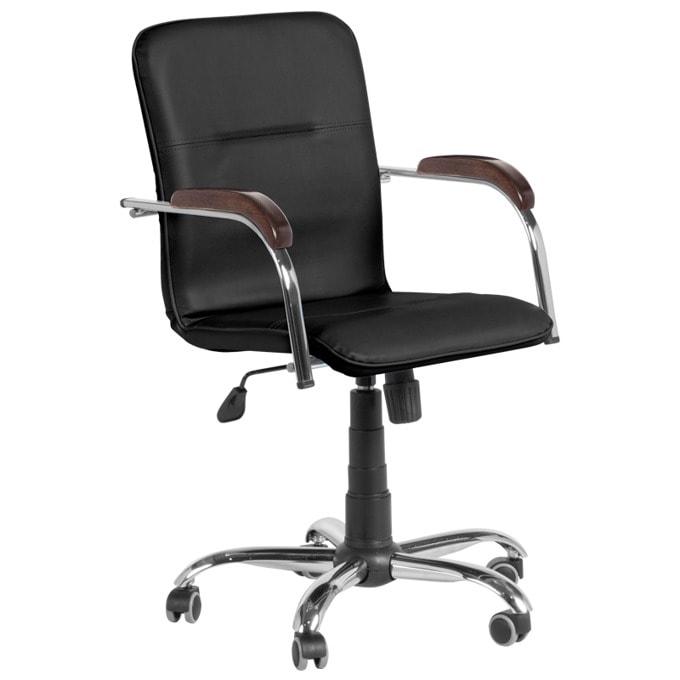 Директорски стол Carmen Atlantis, еко кожа, регулируем люлеещ механизъм, бордо image