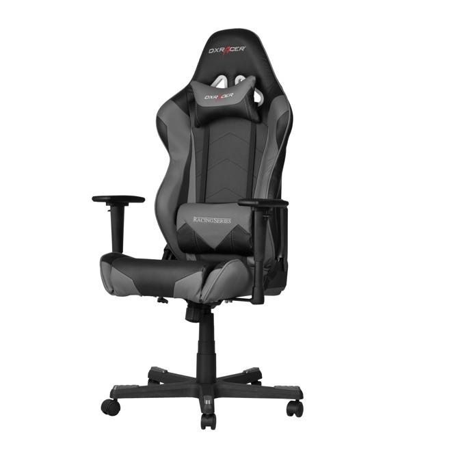 Геймърски стол DXRacer Racing, черен/сив image