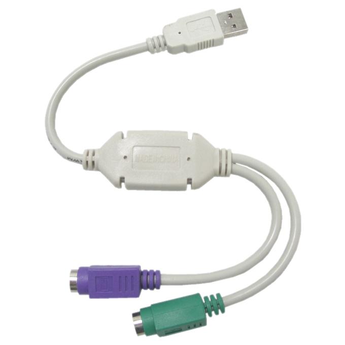 Преходник, от USB A(м) към 2x PS/2(ж) image