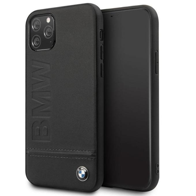 Калъф за Apple iPhone 11, естествена кожа, BMW Genuine Leather BMHCN61LLSB, черен image