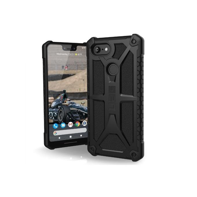 Калъф за Google Pixel 3, удароустойчив, TPU, Urban Armor Gear Monarch, хибриден, черен image