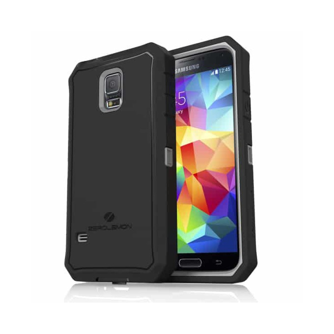 Протектор Zerolemon за Samsung Galaxy S5, черен със сив кант image