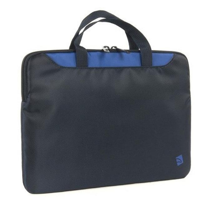 """Чанта за MacBook Аir TUCANO BMINI11-B, 10-11.6""""(25.4-29.46cm), черен и син цвят image"""