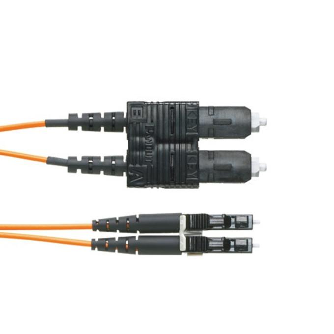 Оптичен кабел SC към LC duplex, 2m, Panduit 50/125, Multimode 50 image