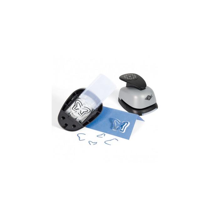 Перфоратор Wedo Pop-up, декоративен, с фигура на панделка, сив image