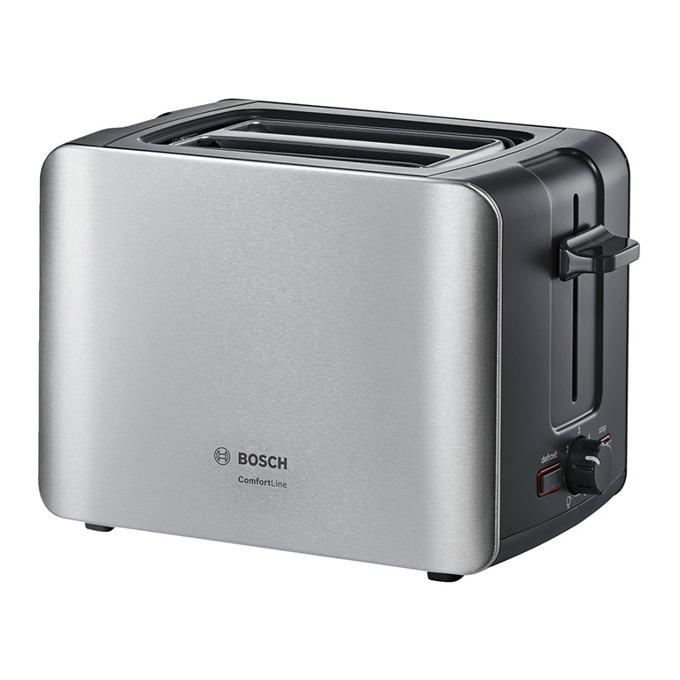 Тостер Bosch TAT6A913, функция за размразяване, сензор за равномерно препичане, 1090 W, инокс  image