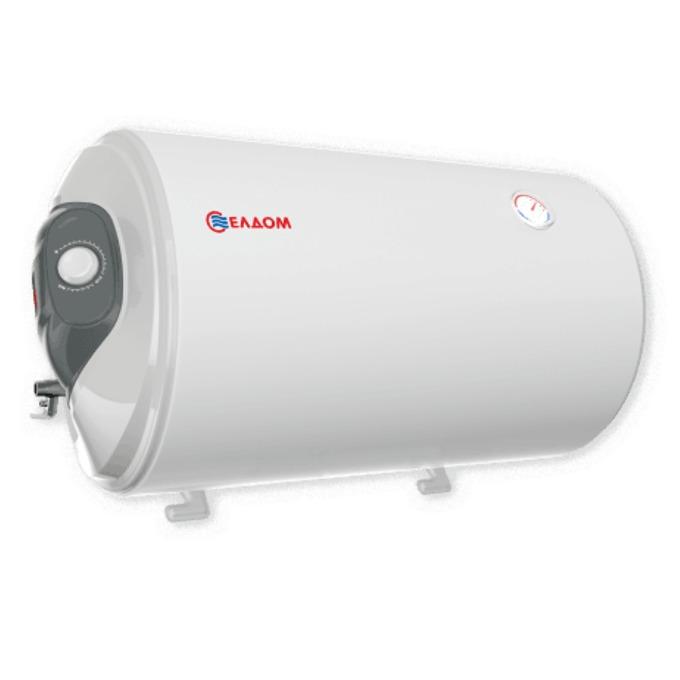 Електрически бойлер Елдом WH08046L, 80 л., хоризонтален, 3kW, емайлиран, енергиен клас C, размер 46.2 x 83.5 x 48.4 cm image