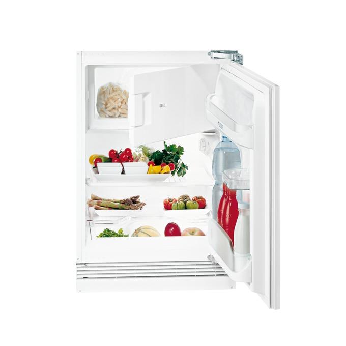 Хладилник с фризер Hotpoint-Ariston BTSZ1632/HA, клас А+, 98 л. общ обем, за вграждане, 179 kWh/годишно, таймер, бял image
