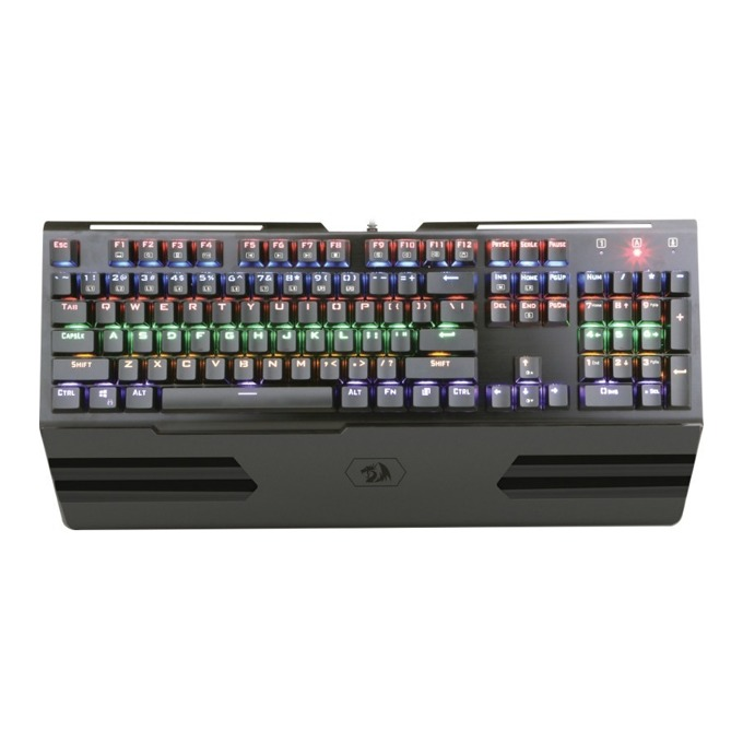 Клавиатура Redragon Hara Rainbow K560R-BK, гейминг, подсветка, черна, USB image