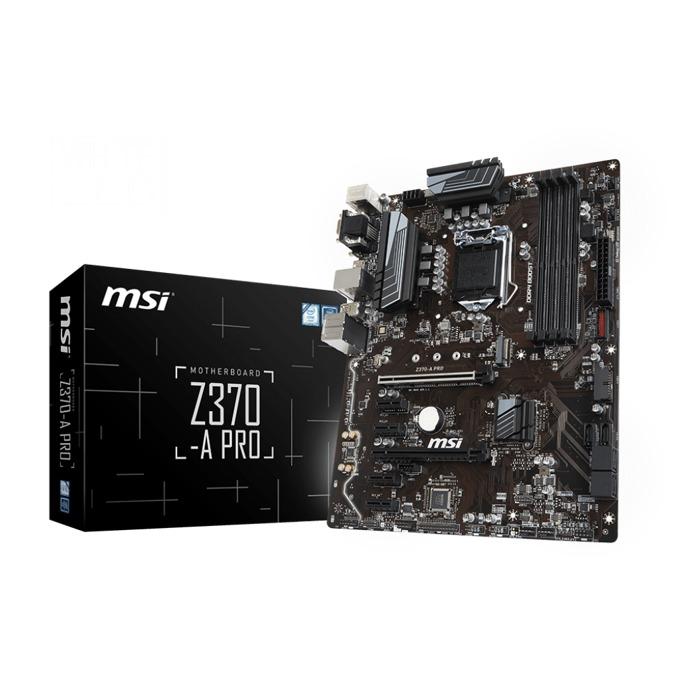 Дънна платка MSI Z370-A PRO, Z370, LGA1151, DDR4, PCI-E (CF), 6x SATA 6Gb/s, 1x Turbo M.2 slot, 8x USB 3.1, ATX image