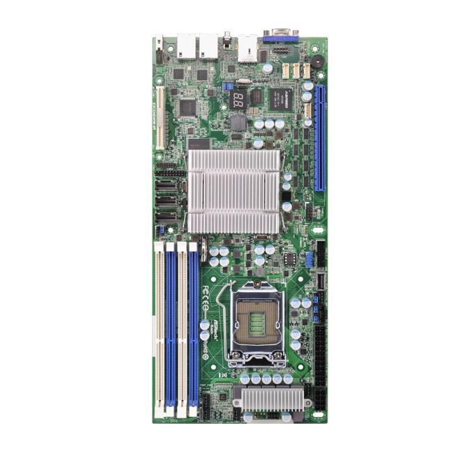 Дънна платка за сървър ASRock Rack E3C224D4HM-8R, LGA1150, DDR3 1600/1333 ECC UDIMM, 3x LAN1000, 4x SATA 6Gb/s, RAID 0, 1, 5, 10, Half Width image