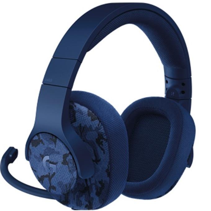 Слушалки Logitech G433, микрофон, 2 m кабел, син камуфлаж image