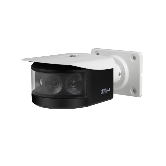 """IP камера Dahua IPC-PFW8800-A180, насочена """"bullet"""", 4x 2Mpix(4096x1800@25FPS),3.0mm обектив 180º(в панорамен изглед), H.265+/H.265/H.264+/H.264, IR осветеност (до 30 метра), вандалоустойчива IK10, IP67, PoE+, RJ-45, microSD слот image"""