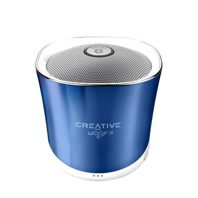 Тонколона Creative Woof 3, 1.0, Bluetooth 2.1, Micro USB, синя, microSD, преносима image