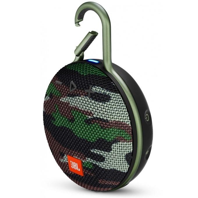 Тонколона JBL Clip 3 Squad, 1.0, 3W RMS, безжична, 3.5mm jack/Bluetooth, камуфлаж, микрофон, IPX7, до 10 часа работа image