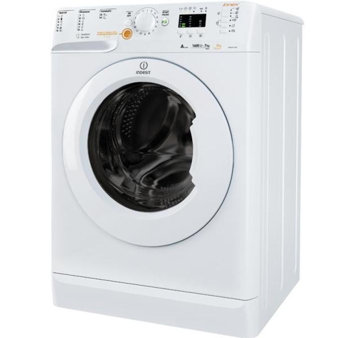 Пералня със сушилня Indesit XWDA 751680X W, клас А, 7 кг. капацитет пералня/5 кг. капацитет сушилня, 1600 оборота в минута, свободностояща, 60 cm. ширина, бяла image