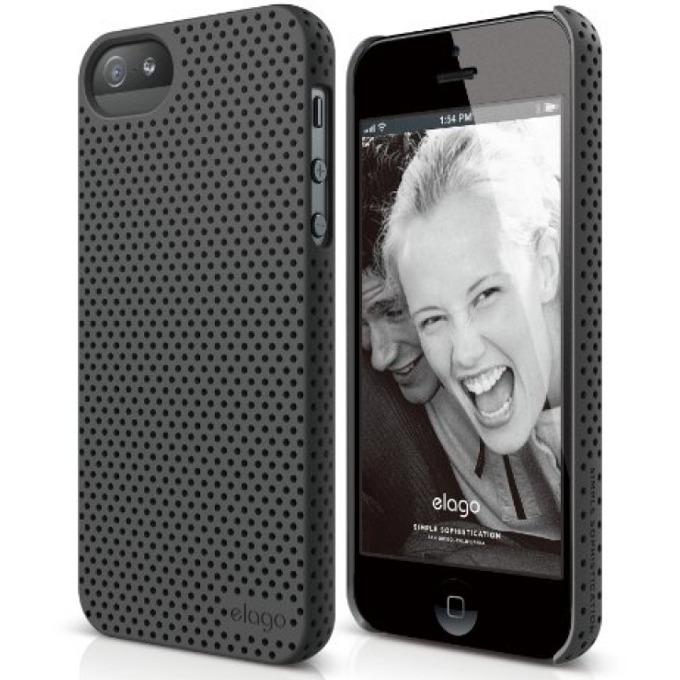 Поликарбонатов протектор Elago S5 Breathe за iPhone 5, iPhone 5S, тъмносив-мат image
