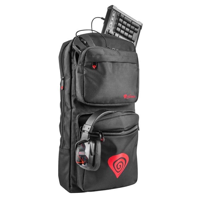 Раница за лаптоп Genesis (NBG-1070) Backpack Gaming, 39.6 cm 15.6инча, водоустойчива, черна image