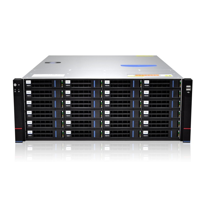 """Кутия Gooxi RMC4124-670-HSE-D-R800, 4U Rack Mount, 24x 3.5""""/2.5"""" SATA/SAS Hot Swap, 800W 80+ Platinum захранване image"""