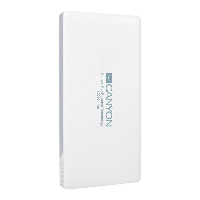 Външна батерия/power bank/ Canyon CNS-TPBP10W, 10000mAh, USB, Lightning, бяла image