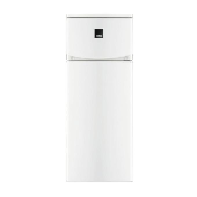 Хладилник с фризер Zanussi ZRT23100WA, клас A+, 228 л. общ обем, свободностоящ, 237 kWh/годишно, бързо замразяване, стъклени полици, автоматично замразяване, бял  image