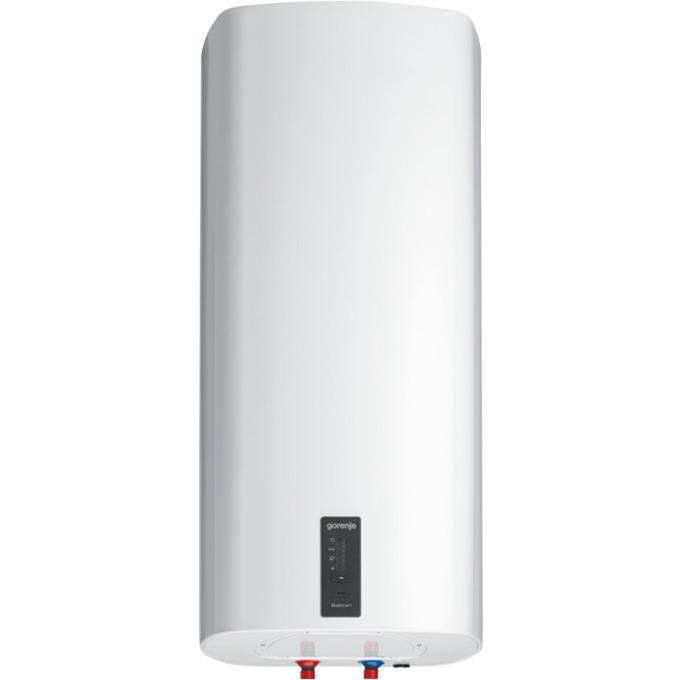 Електрически бойлер Gorenje OTGS 80 SMC6, 78,8л., вертикален, 2 kW, емайлирана стомана, B, 42.0 x 95.0 x 44.5 cm, 1 нагревател, електронен термометър, Smart функция, двойна антикорозионна защита, бял image