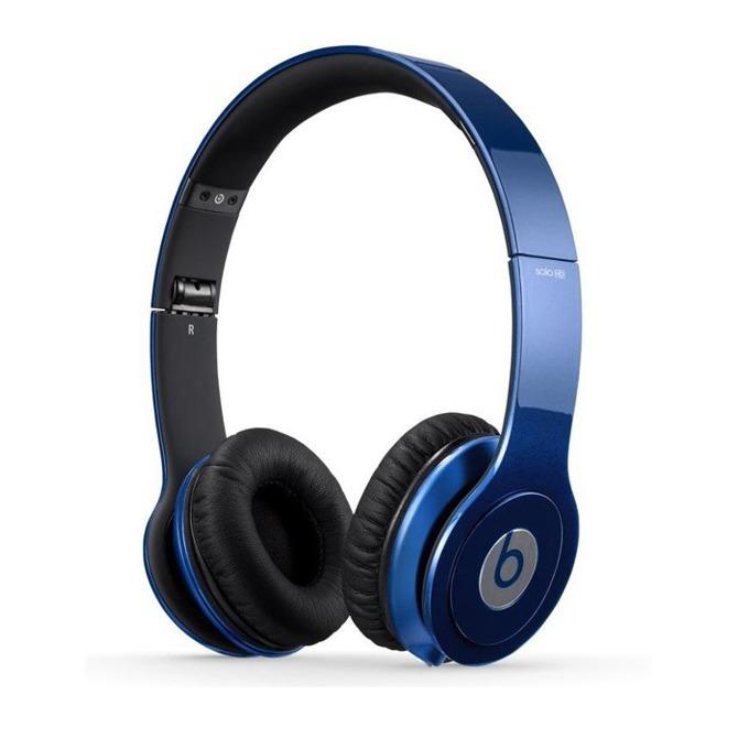 Слушалки Beats by Dre Solo HD On Ear, тъмно-сини, сгъваеми, оптимизирани за iPhone/iPad/iPod image