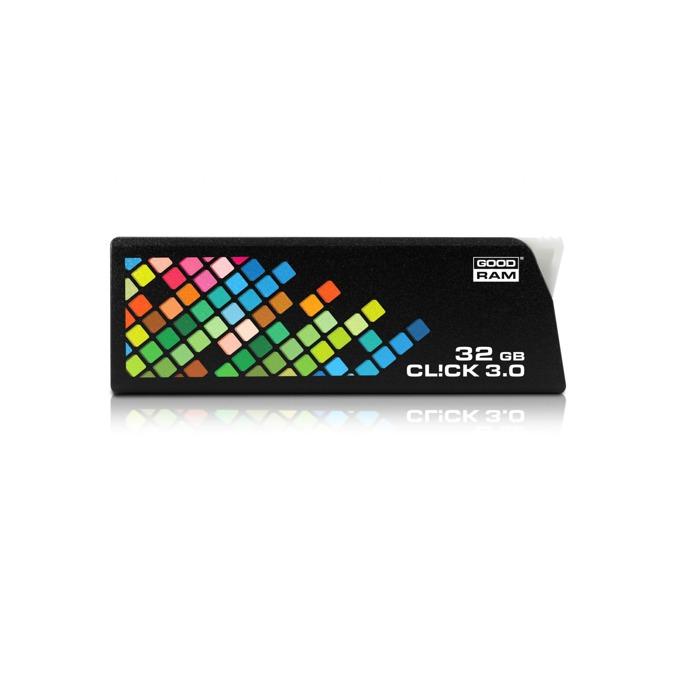 32GB USB Flash Drive, Goodram CL!CK, USB 3.0, черна  image