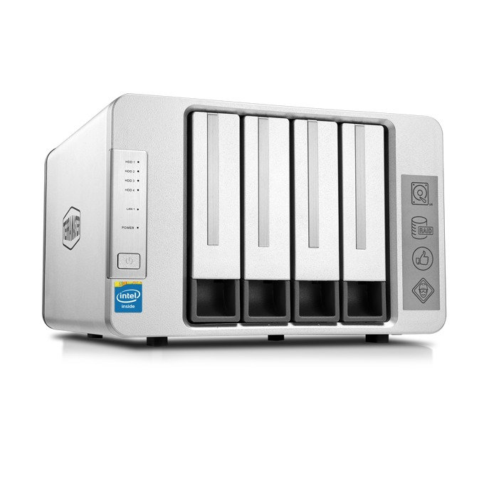 TerraMaster F4-220 (F4-220/4X4TB), двуядрен Intel Celeron J1800 2.41GHz/2.58GHz, 2 GB RAM, 4x 4TB Seagate NAS HDD, 1x RJ-45, USB 3.0, USB 2.0, Tower image