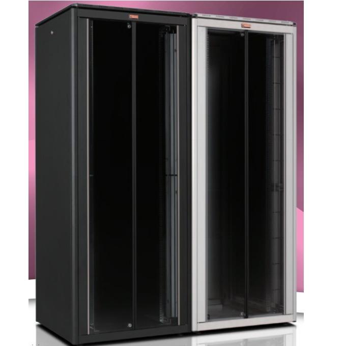 """Комуникационен шкаф Lande LN-FS42U8080-BL-111, 19"""", 42U, 800 x 800 мм, предна стъклена врата, черен image"""